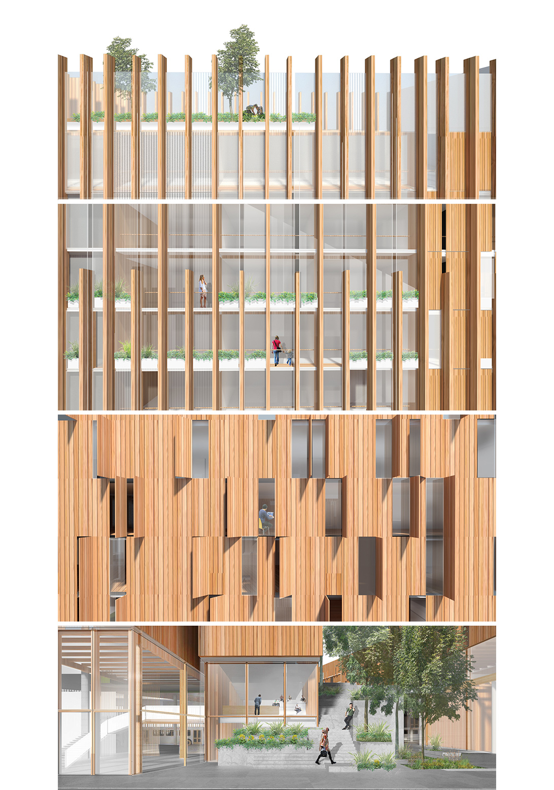 Wood Elevation S : Réinventer paris michael green architecture
